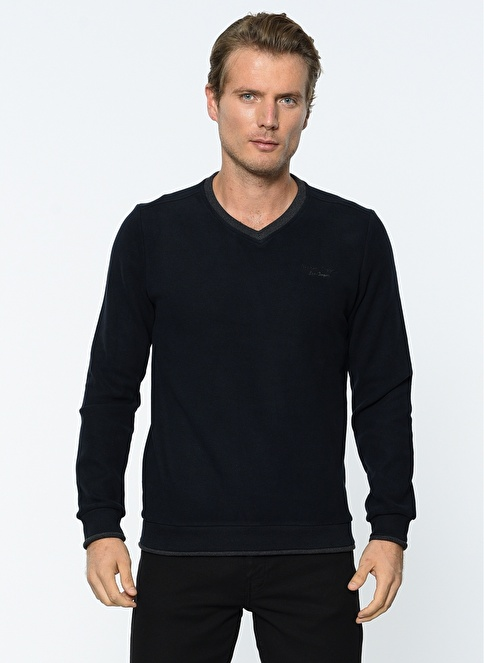 Lee Cooper Uzun Kollu Sweatshirt Lacivert